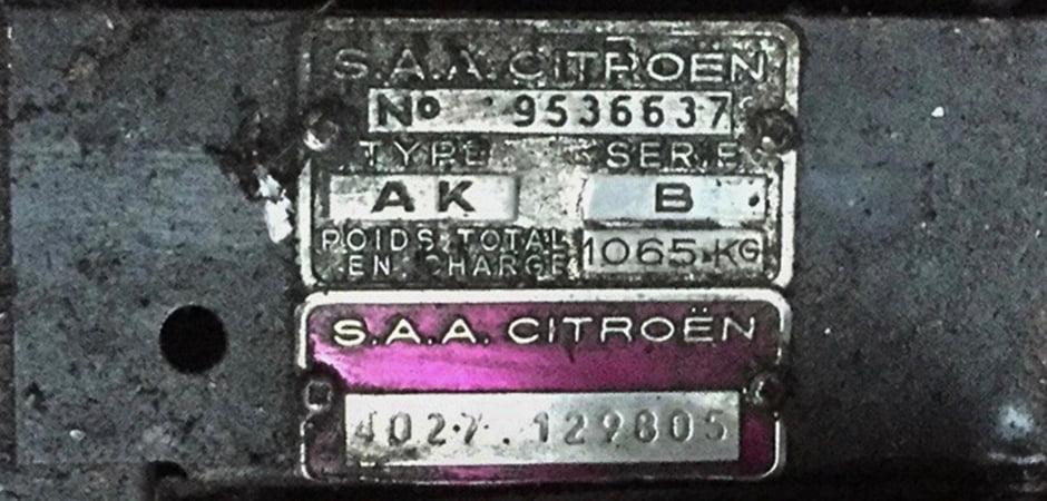 シトロエン1958