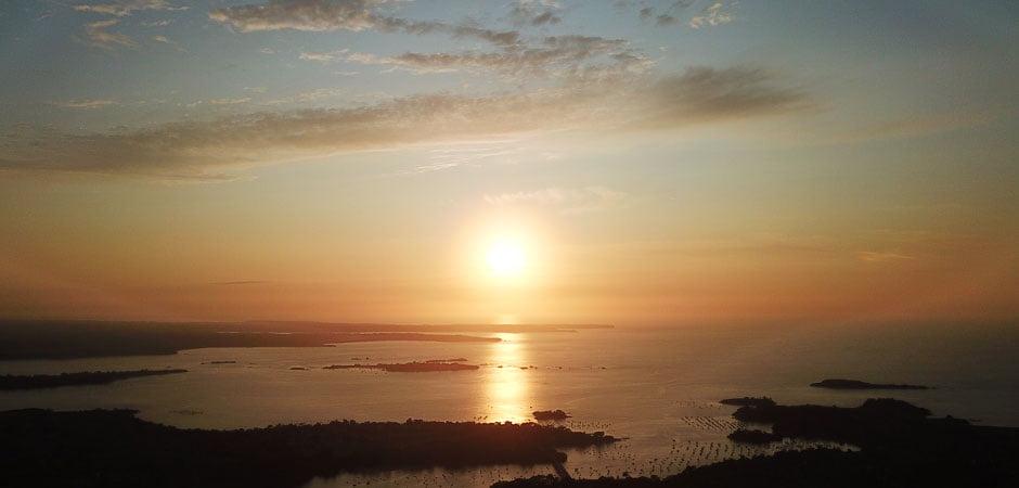 ブルターニュの海&日が沈む