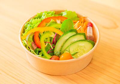 自家菜園のサラダ